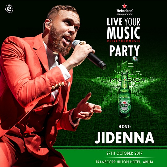 Photo of JIDENNA ARRIVES NIGERIA AHEAD OF 'HEINEKEN LIVE YOUR MUSIC' PARTIES.