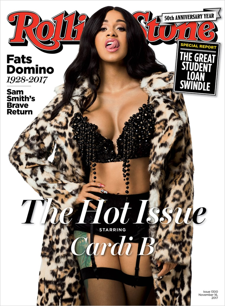 Photo of THE YEAR OF CARDI B. CARDI B GRACES THE COVER OF ROLLING STONE'S 50TH ANNIVERSARY ISSUE