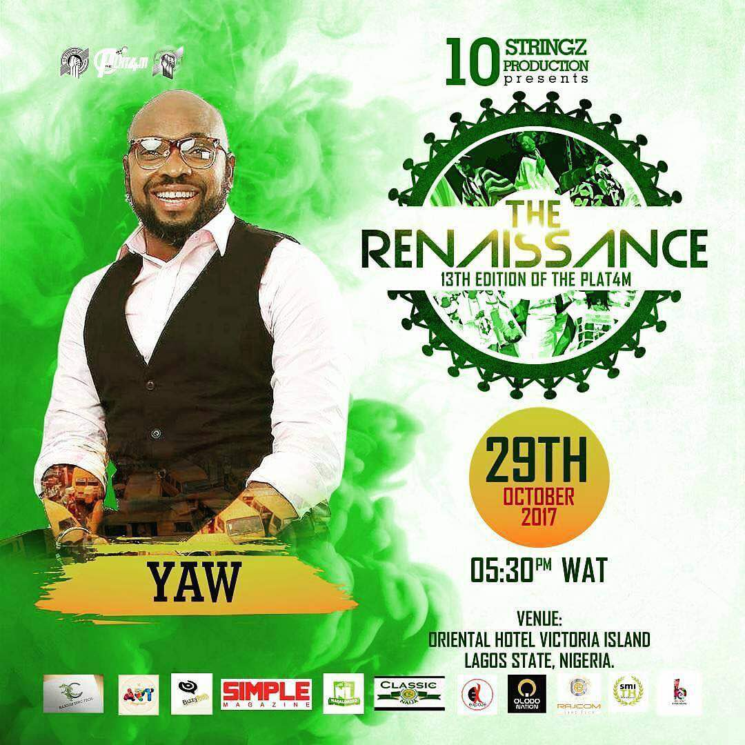 Photo of THE 13TH EDITION OF THE PLAT4M THE RENAISSANCE TO HOST SP DOLAPO BADMUS & YAW