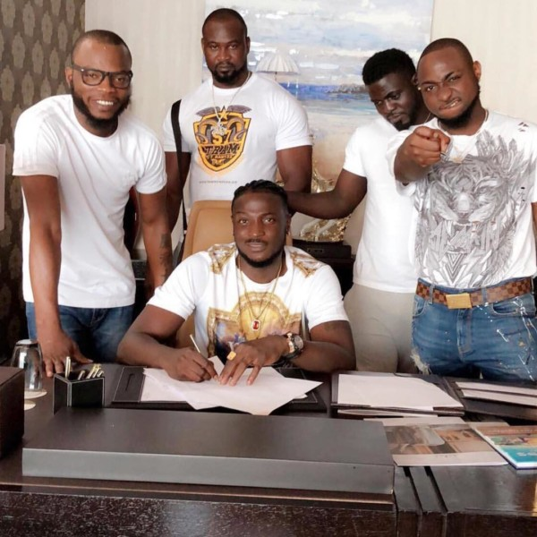 "Photo of DAVIDO SIGNS NEW ARTIST ""PERUZZI"" TO HIS RECORD LABEL ""DMW"""