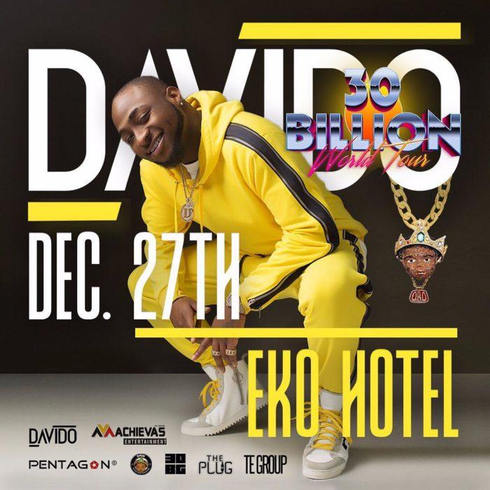 Photo of DAVIDO TO ROUND OFF 30 BILLION TOUR IN LAGOS.