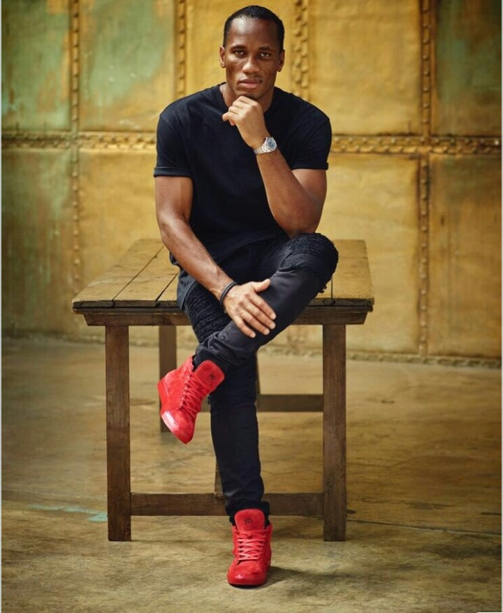 Photo of CHELSEA LEGEND DIDIER DROGBA VENTURES INTO FASHION WORLD.