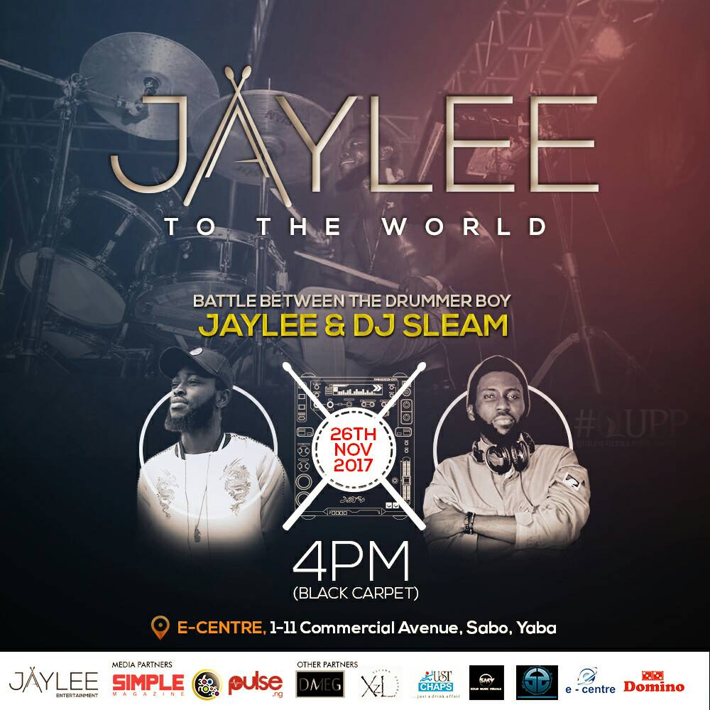 "Photo of THE MOST ANTICIPATED DRUMMER VS DJ CONCERT ""JAYLEE TO THE WORLD"" HOLDS THIS NOVEMBER IN LAGOS."