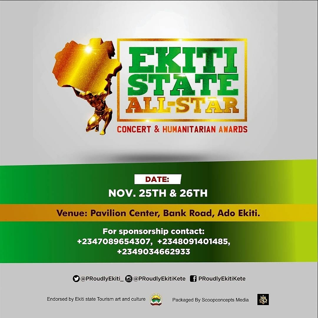Photo of SCOOP CONCEPTS MEDIA UNVEILS EKITI STATE ALL STARS CONCERT AND HUMANITARIAN AWARDS.