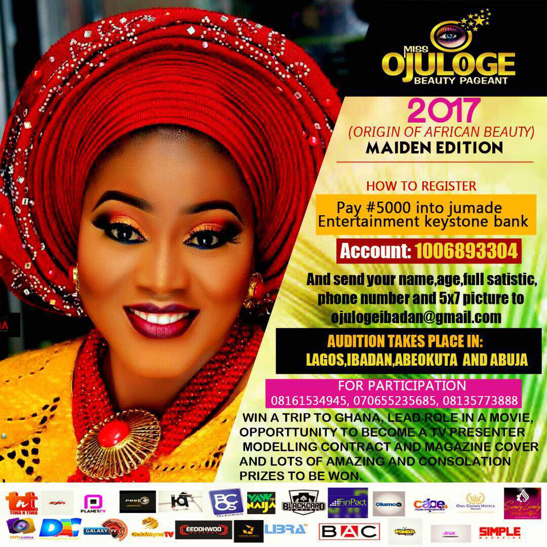 Photo of MISS OJULOGE BEAUTY PAGEANT FLAGS OF ITS MAIDEN EDITION