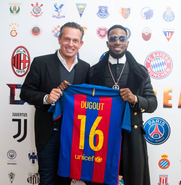 Photo of DBANJ LAUNCHES CREAM SPORTS IN CONJUNCTION WITH DUGOUT UK.