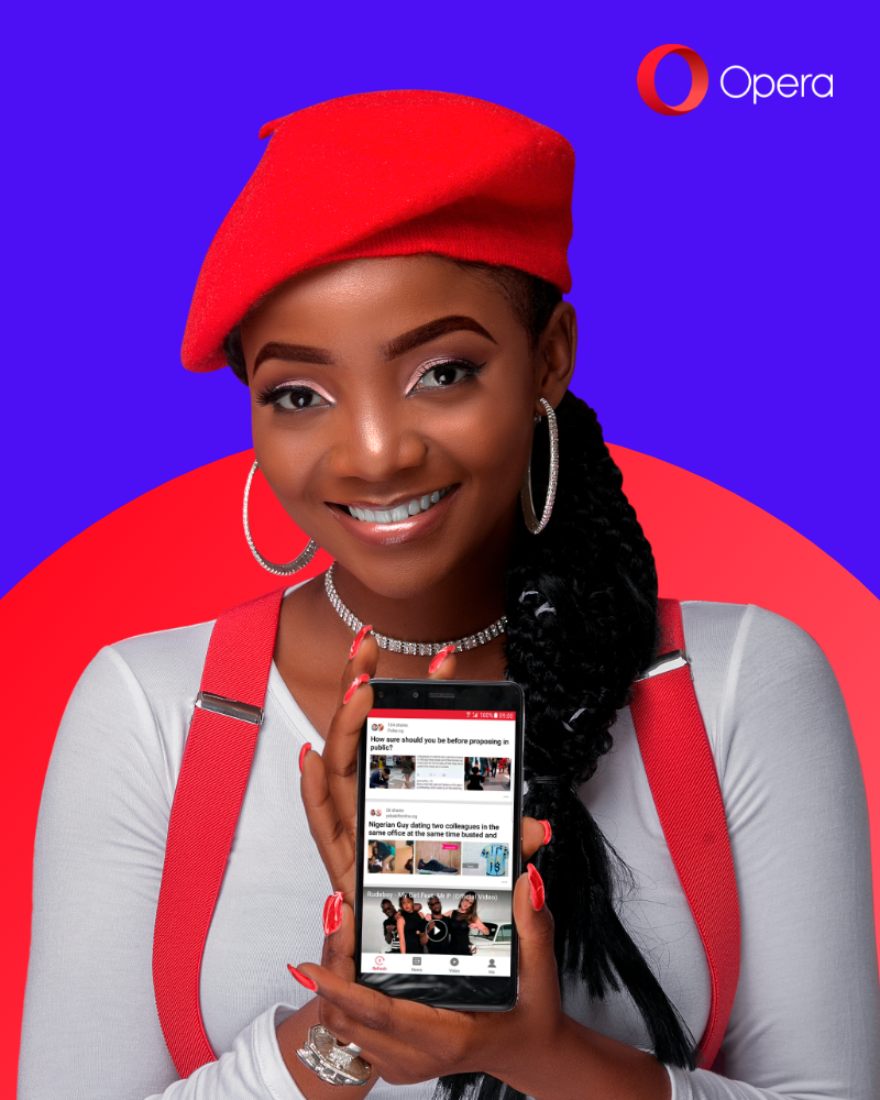 Photo of ON TOP OF THE WORLD. SIMI BECOMES OPERA BRAND AMBASSADOR  IN NIGERIA.