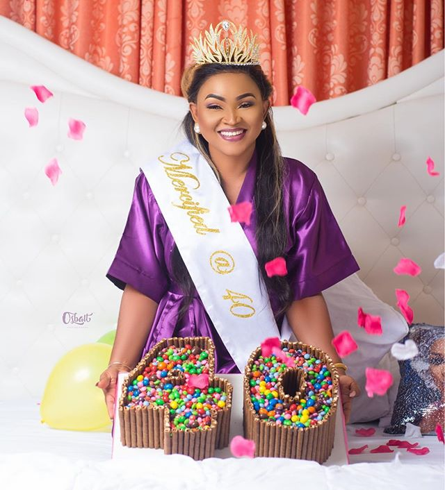 Photo of NOLLYWOOD ACTRESS, MERCY AIGBE, TURNS 40. SHARES NEW PHOTOS.