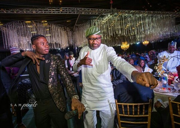 Photo of PHOTOS OF BILLIONAIRE BUSINESSMAN FEMI OTEDOLA DOING THE 'SHAKU SHAKU' DANCE AT FATIMA DANGOTE'S WEDDING DINNER