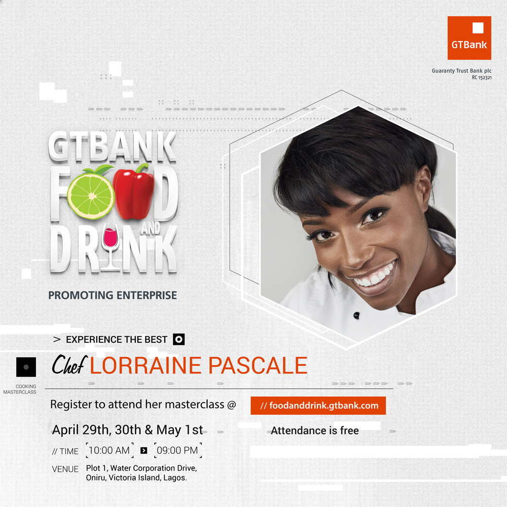 Photo of POPULAR FOOD CRITIC & TV PERSONALITY LORRAINE PASCALE WILL TEACH HOW TO MAKE THE PERFECT DESSERT AT THE GTBANK FOOD AND DRINK FAIR | APRIL 29TH – MAY 1ST.