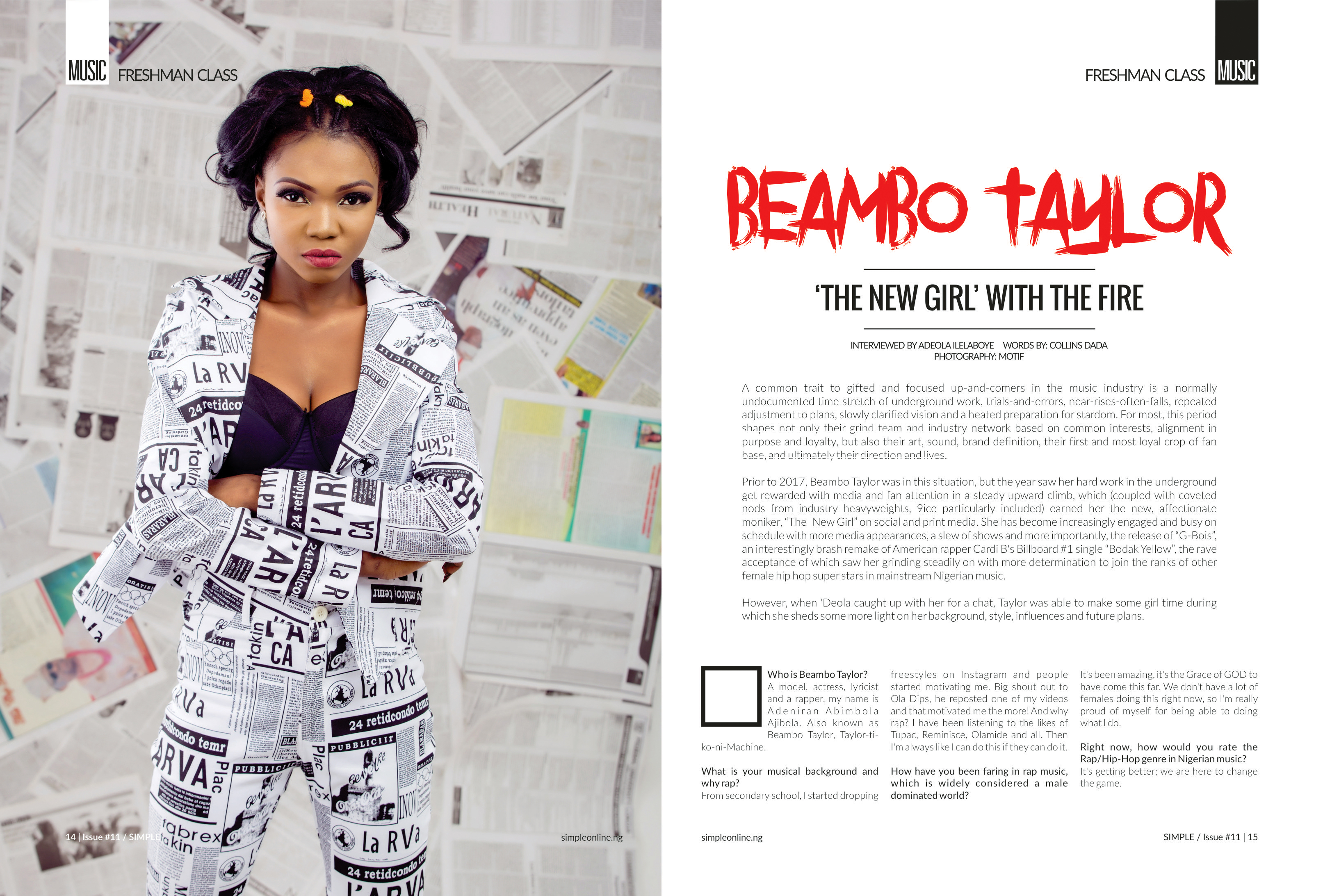 Photo of BEAMBO TAYLOR: THE NEW GIRL WITH THE FIRE