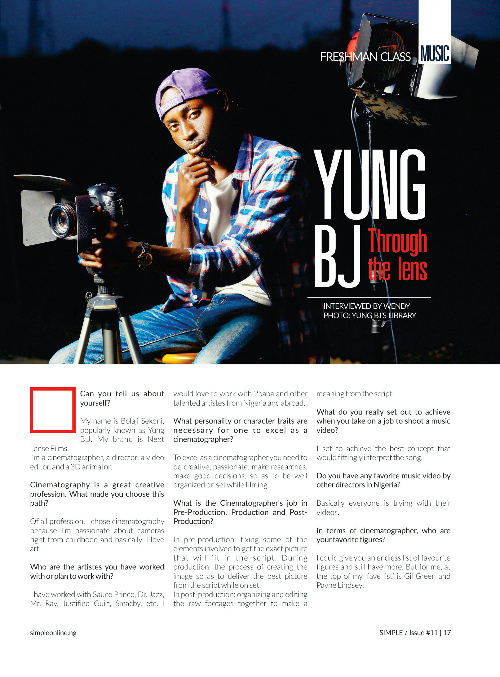Photo of YUNG BJ – THROUGH THE LENS