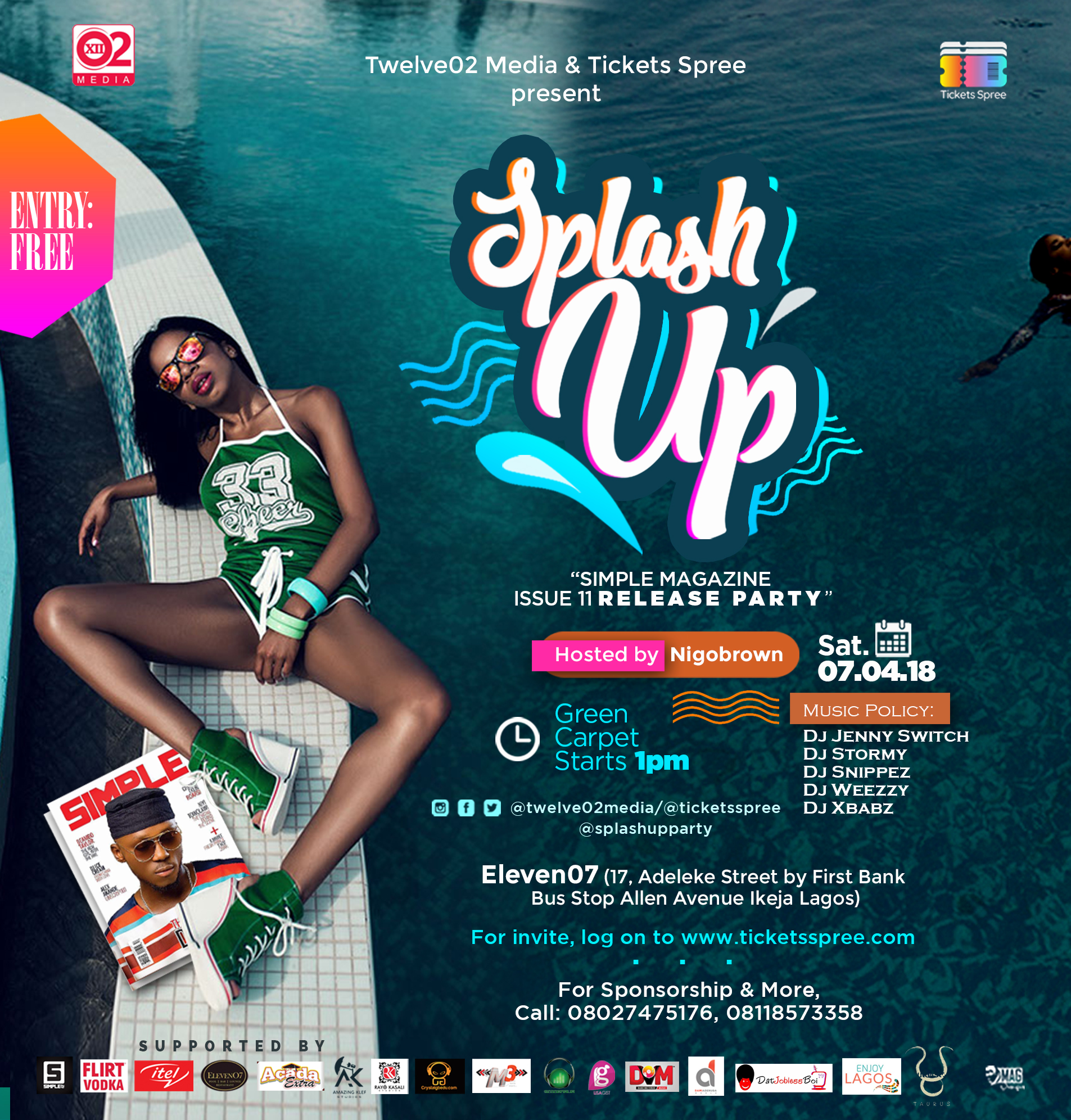 "Photo of TWELVE02 MEDIA & TICKETS SPREE BRINGS TO YOU ""SPLASH UP PARTY""."