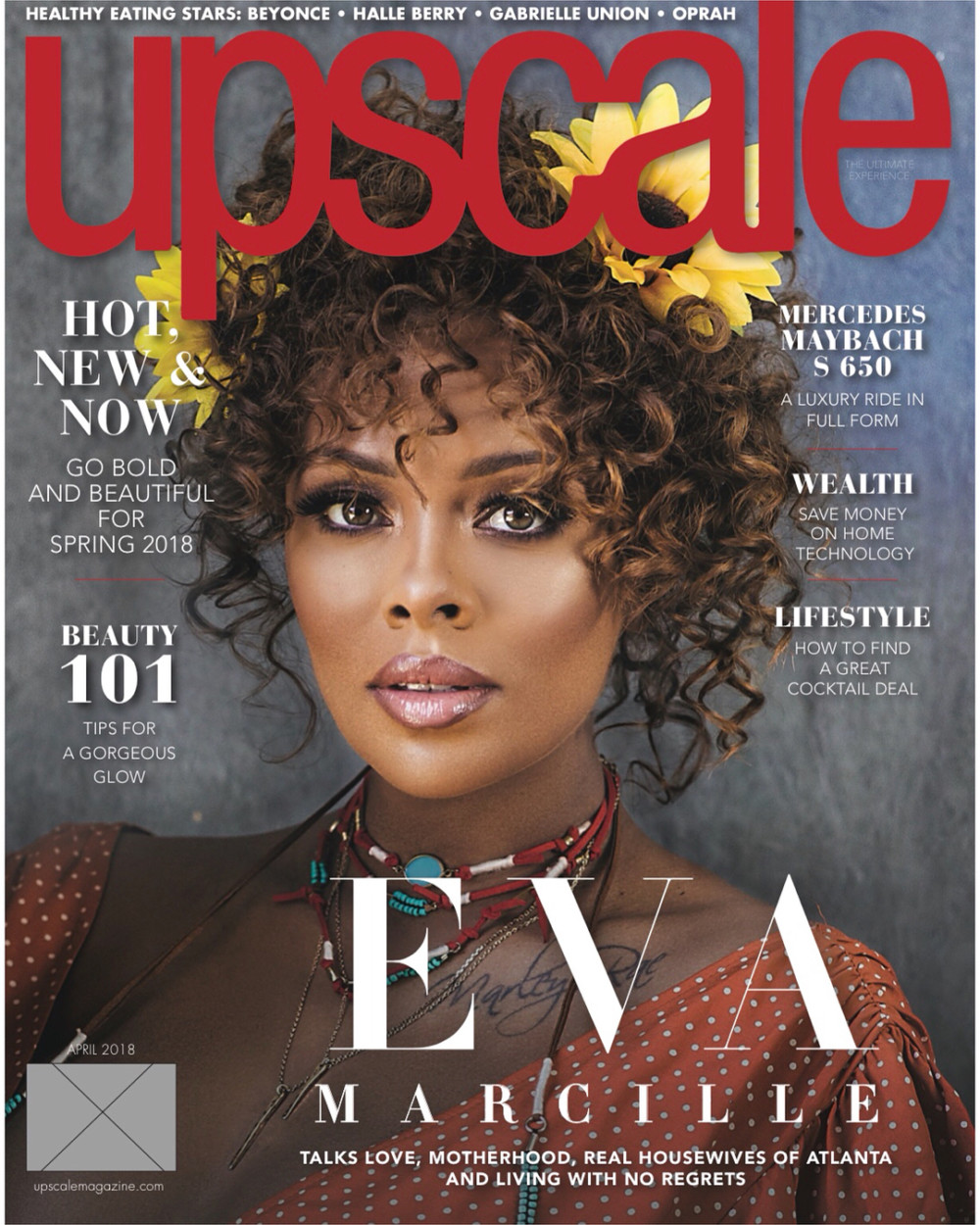 Photo of ACTRESS AND MODEL EVA MARCILLE COVERS UPSCALE MAGAZINE.