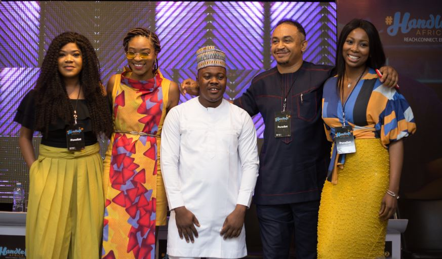 Photo of ADEBOLA WILLIAMS, TOYIN ABRAHAM, DADDY FREEZE, KENNY BLAQ, LASIS ELEN SPEAK AT HANDLE IT AFRICA SOCIAL MEDIA CONFERENCE 2.