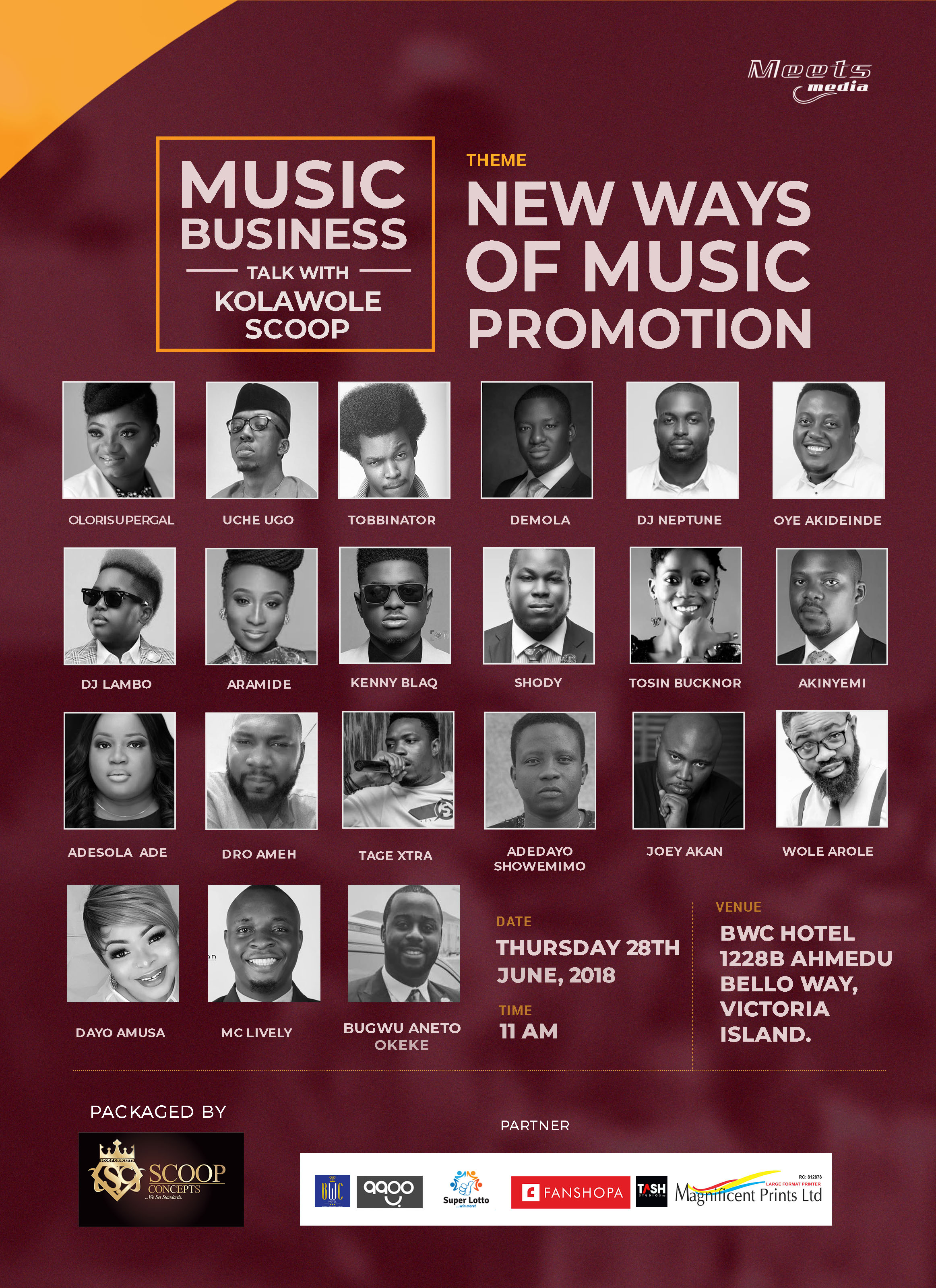 Photo of MUSIC BUSINESS TALK WITH KOLAWOLE SCOOP ON MEETSMEDIA