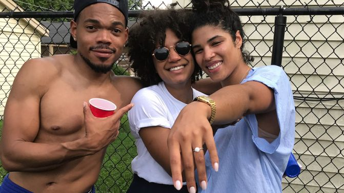Photo of CHANCE THE RAPPER AND KIRSTEN CORLEY ARE ENGAGED