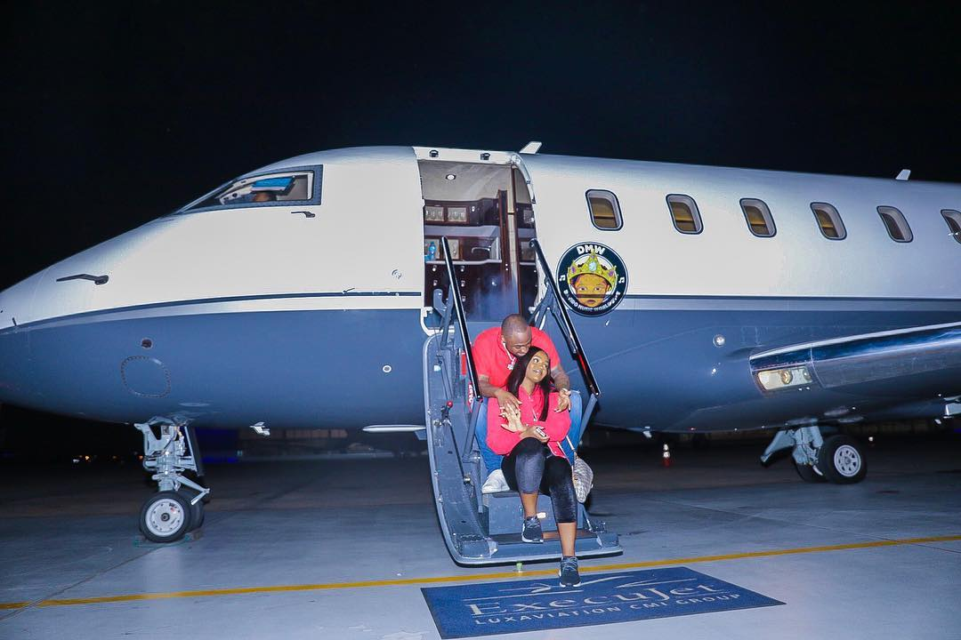 Photo of AIR OBO: DAVIDO MAKES ITS FIRST TRIP WITH CHIOMA ON BOARD