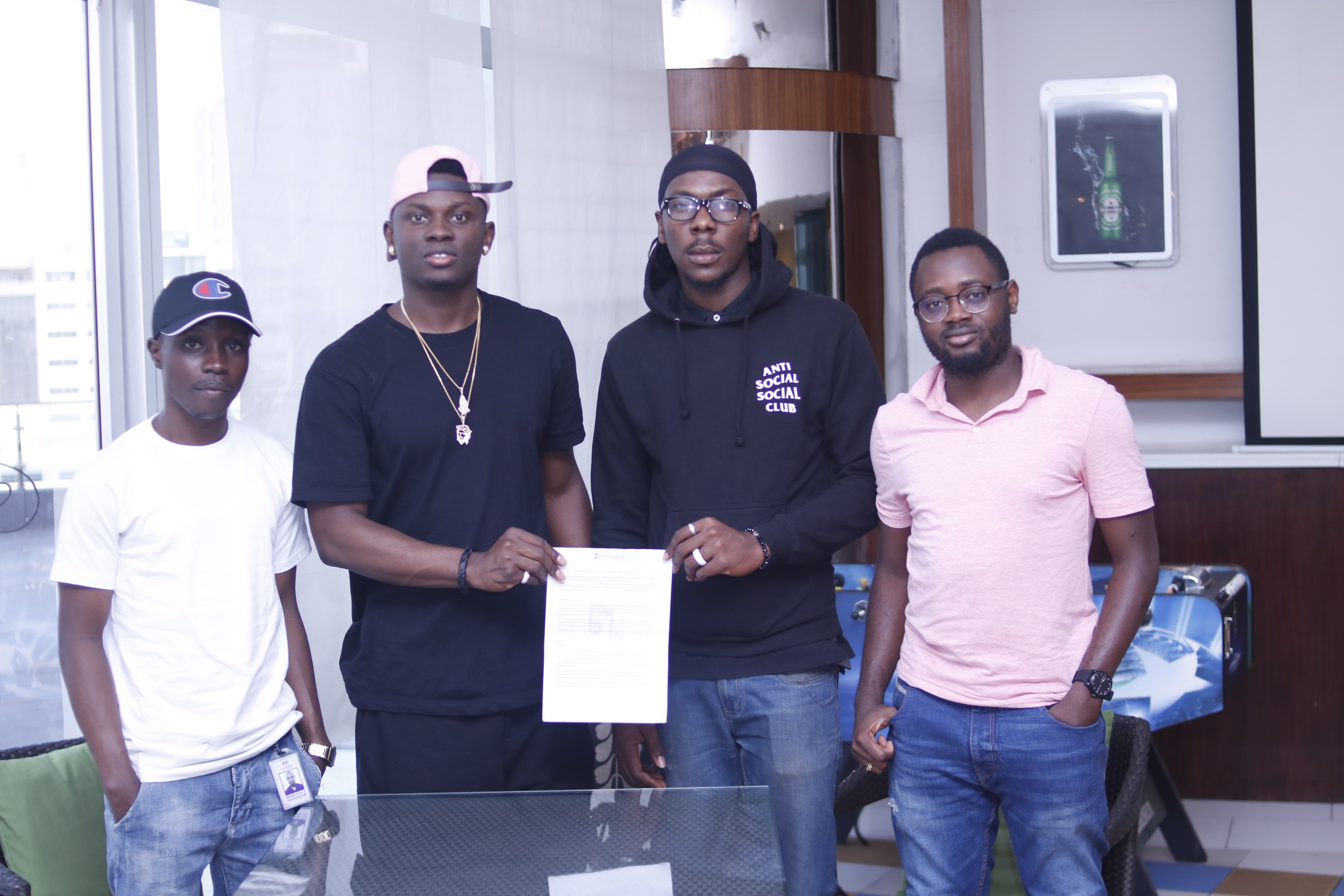 Photo of GUARDIAN MUSIC RECORDING ARTISTE, MYRO SIGNS WITH PLAYMODE MUSIC