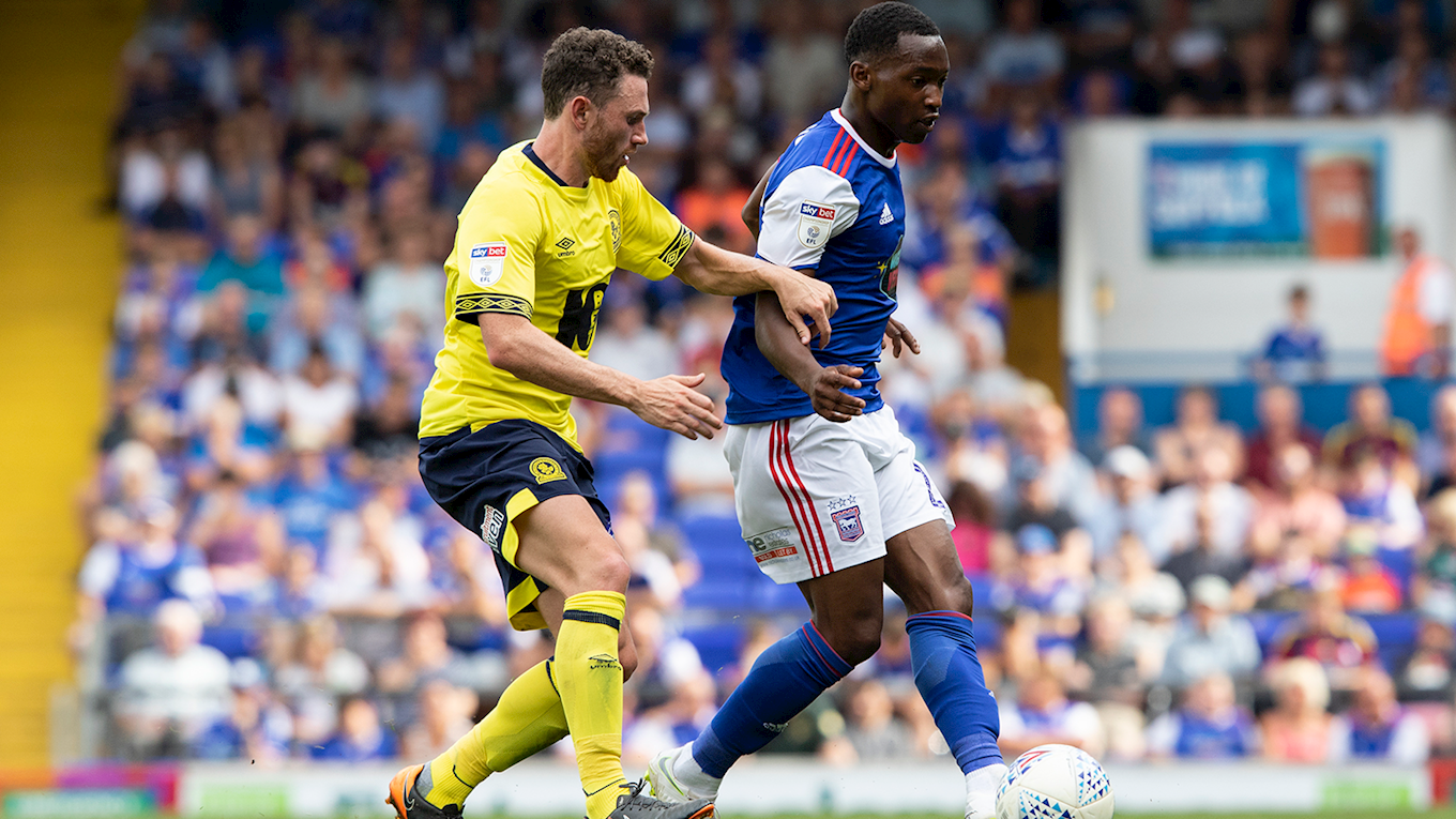 Photo of TAYO EDUN RESCUED IPSWICH TOWN FC WITH A 2-2 DRAW AGAINST BLACKBURN