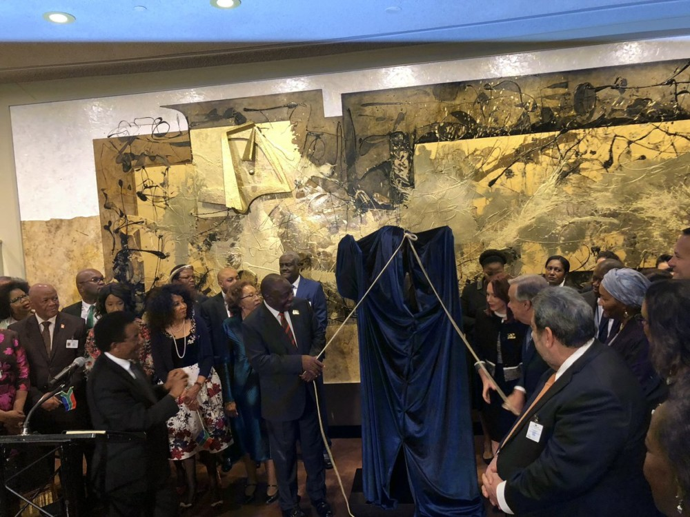 Photo of NELSON MANDELA STATUE UNVEILED AT THE UN