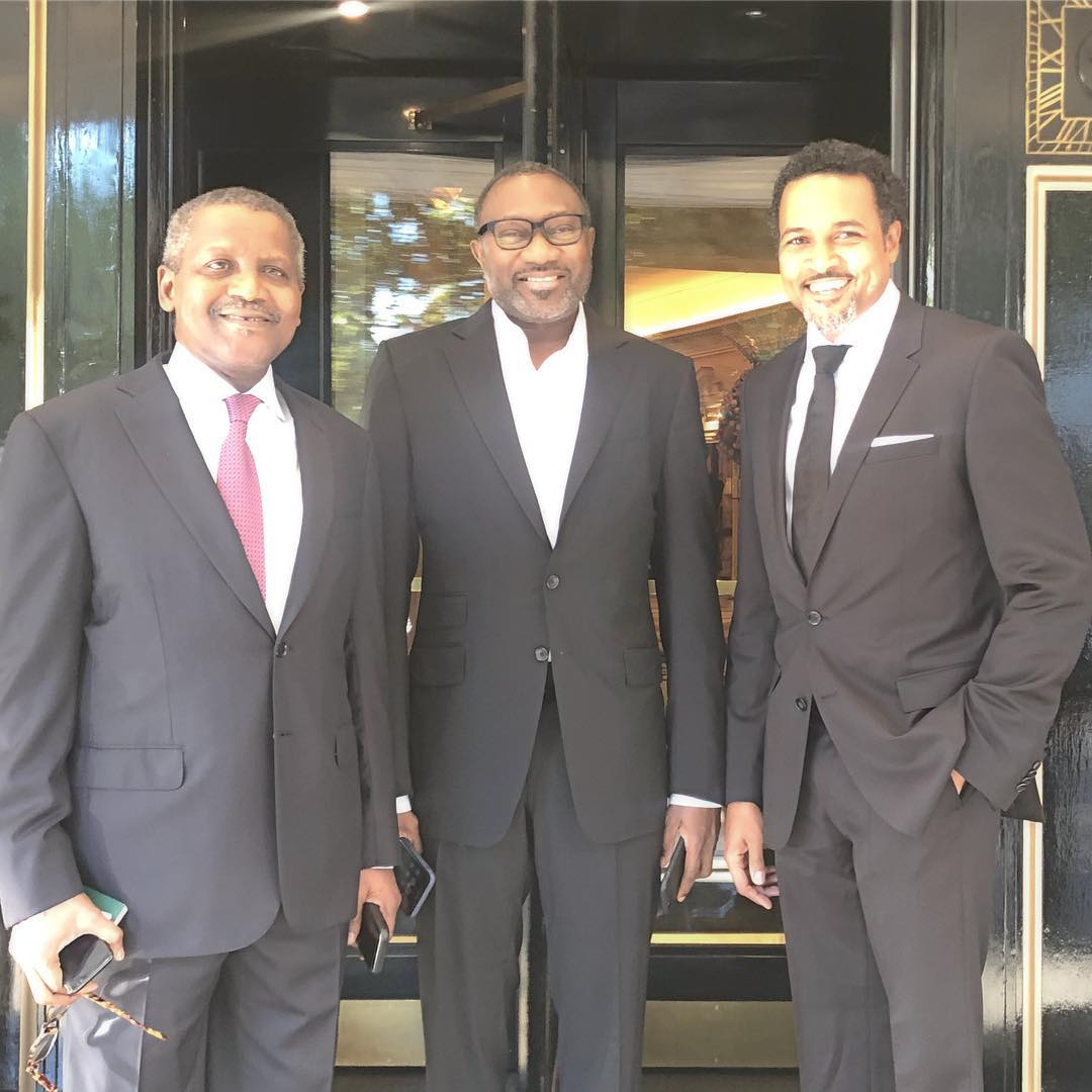 Photo of FEMI OTEDOLA, ALIKO DANGOTE & CECIL HAMMOND SPOTTED AT FIFA'S THE BEST AWARD CEREMONY