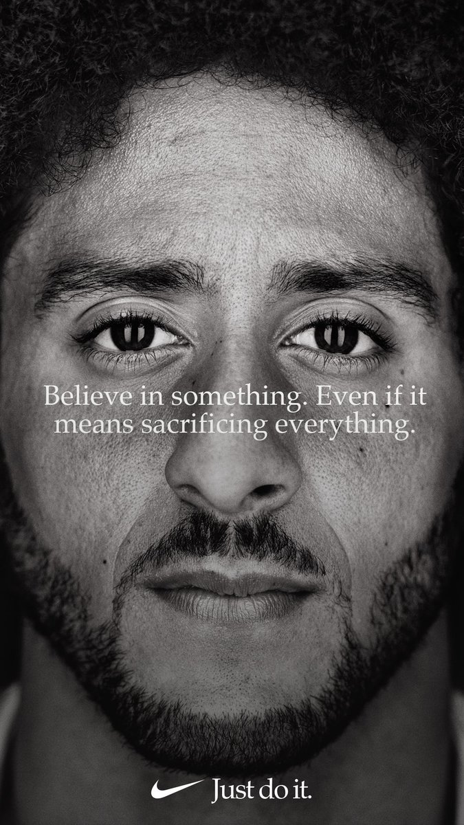 Photo of COLIN KAEPERNICK BECOMES THE FACE OF NIKE'S JUST DO IT CAMPAIGN
