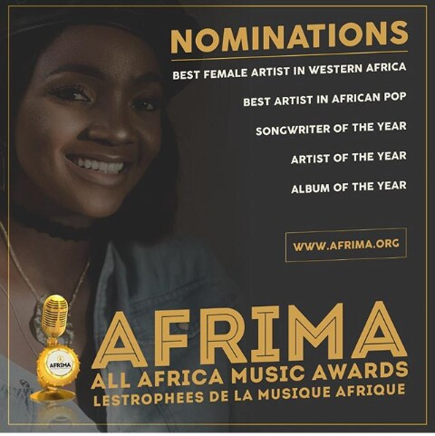 Photo of SIMI HAS FIVE AWARD NOMINATIONS IN THE FORTHCOMING AFRIMA 2018