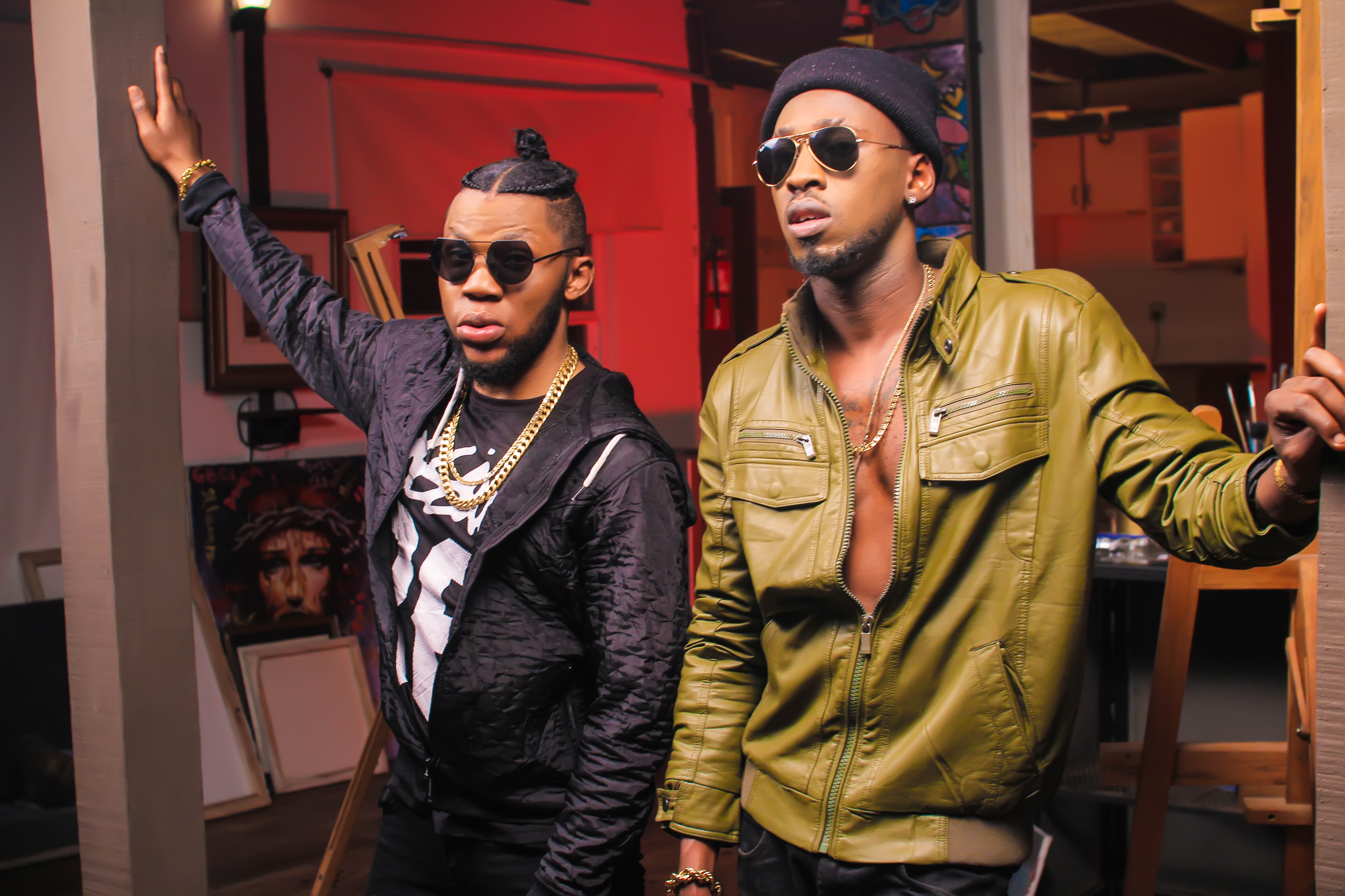 """Photo of BEHIND THE SCENE PICTURES FROM KINGMIC """"BAMIDELE"""" RMX VIDEO SHOOT FEATURING OREZI."""