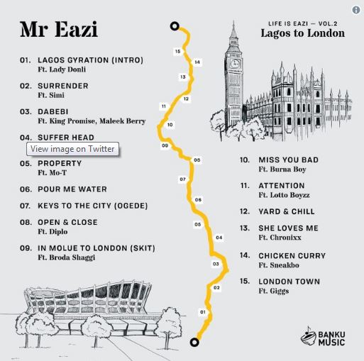 "Photo of MR EAZI UNVEILS TRACKLIST TO UPCOMING MIXTAPE, ""LAGOS TO LONDON"""