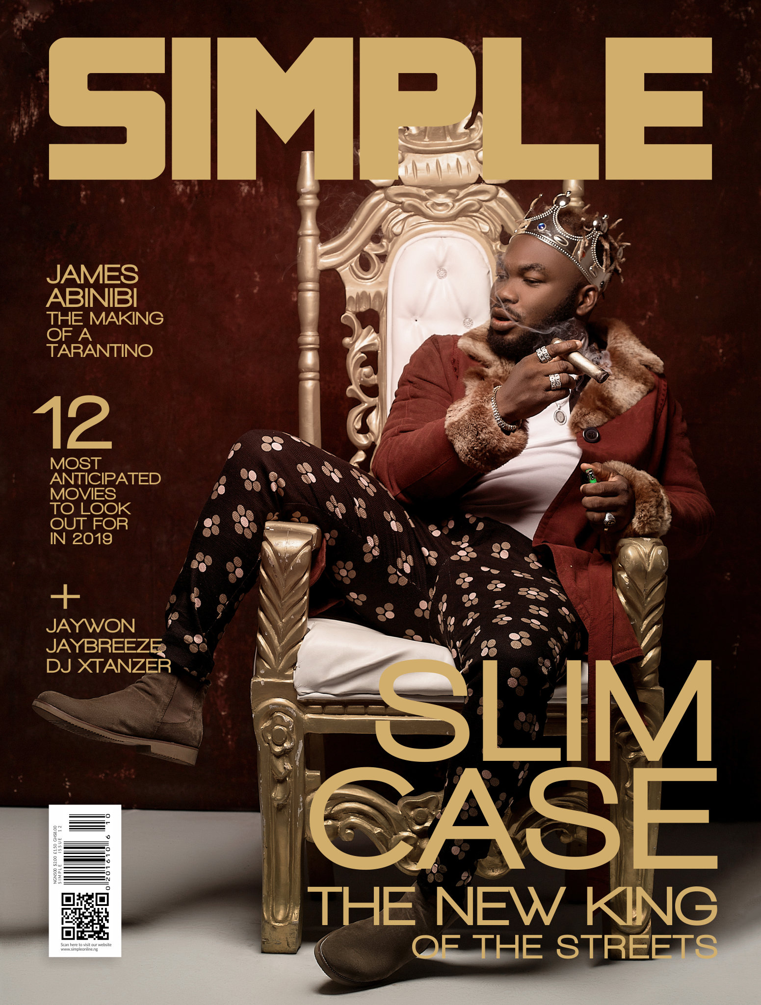 Photo of SLIMCASE RULES ON THE NEW COVER OF SIMPLE MAGAZINE