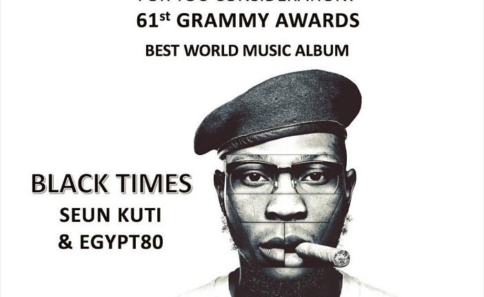 Photo of SEUN KUTI GETS NOMINATED FOR 2019 GRAMMY AWARDS [SEE FULL LIST]