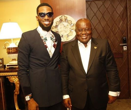 Photo of D'BANJ MEETS WITH GHANAIAN PRESIDENT NANA AKUFO-ADDO