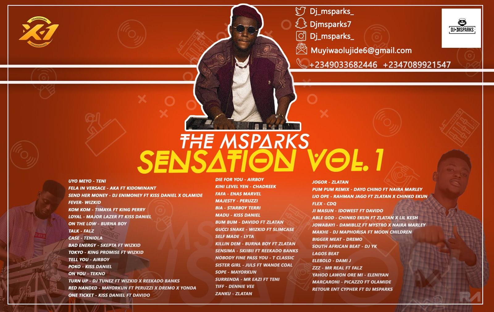 Photo of MIX-TAPE: DJ Msparks – Msparks Sensation vol. 1