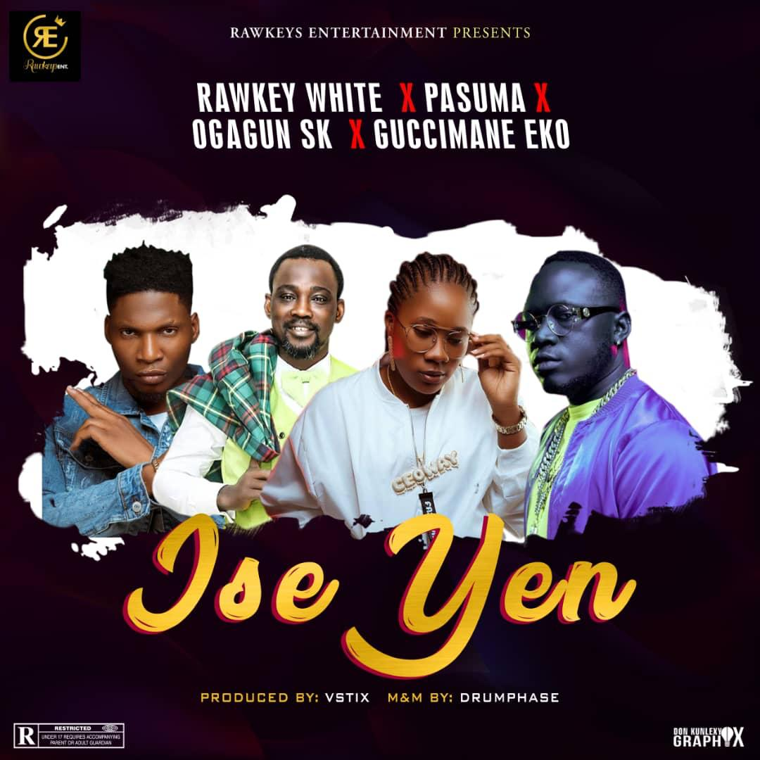 Photo of REWKEY WHITE DROPS NEW SONG #ISEYEN FT. PASUMA WONDER. GUCCIMANE EKO & OGAGUN SK