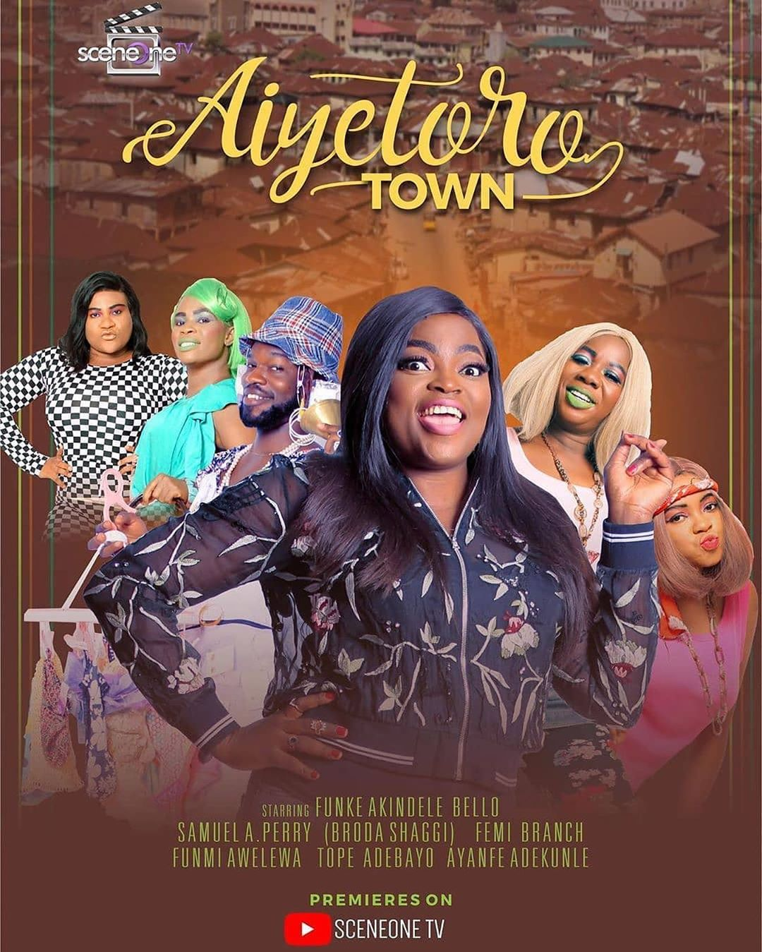 "Photo of SHAFFY BELLO, OMONI OBOLI, TOKE MAKINWA, LILIAN ESORO SPOTTED AT THE PREMIERE OF FUNKE AKINDELE BELLO AND JJC NEW SERIES ""AIYETORO TOWN"""