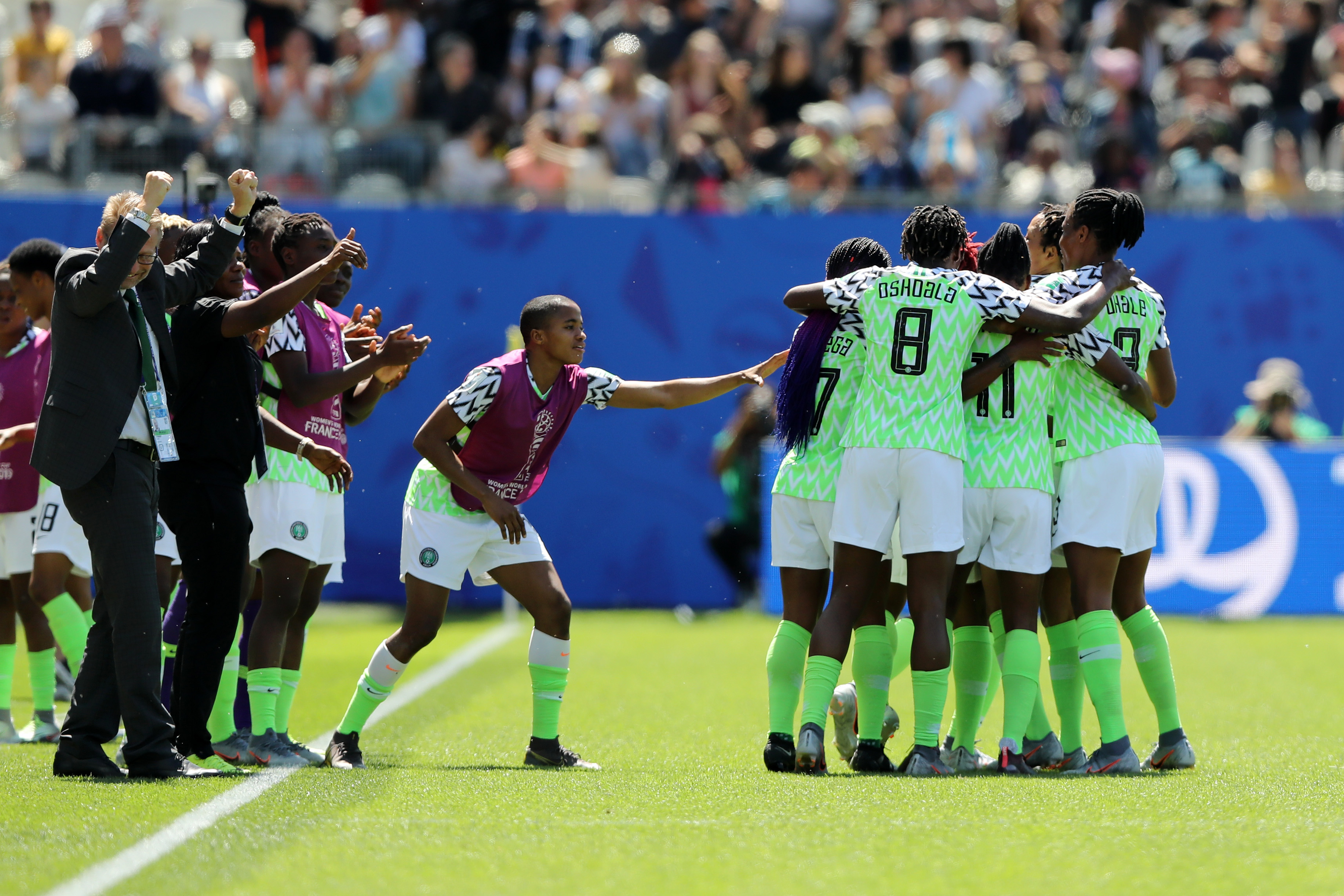 Photo of SUPER FALCONS DELIVER #DEMOCRACYDAY GIFT, DEFEAT SOUTH KOREA 2 – 0 AT #FIFAWWC