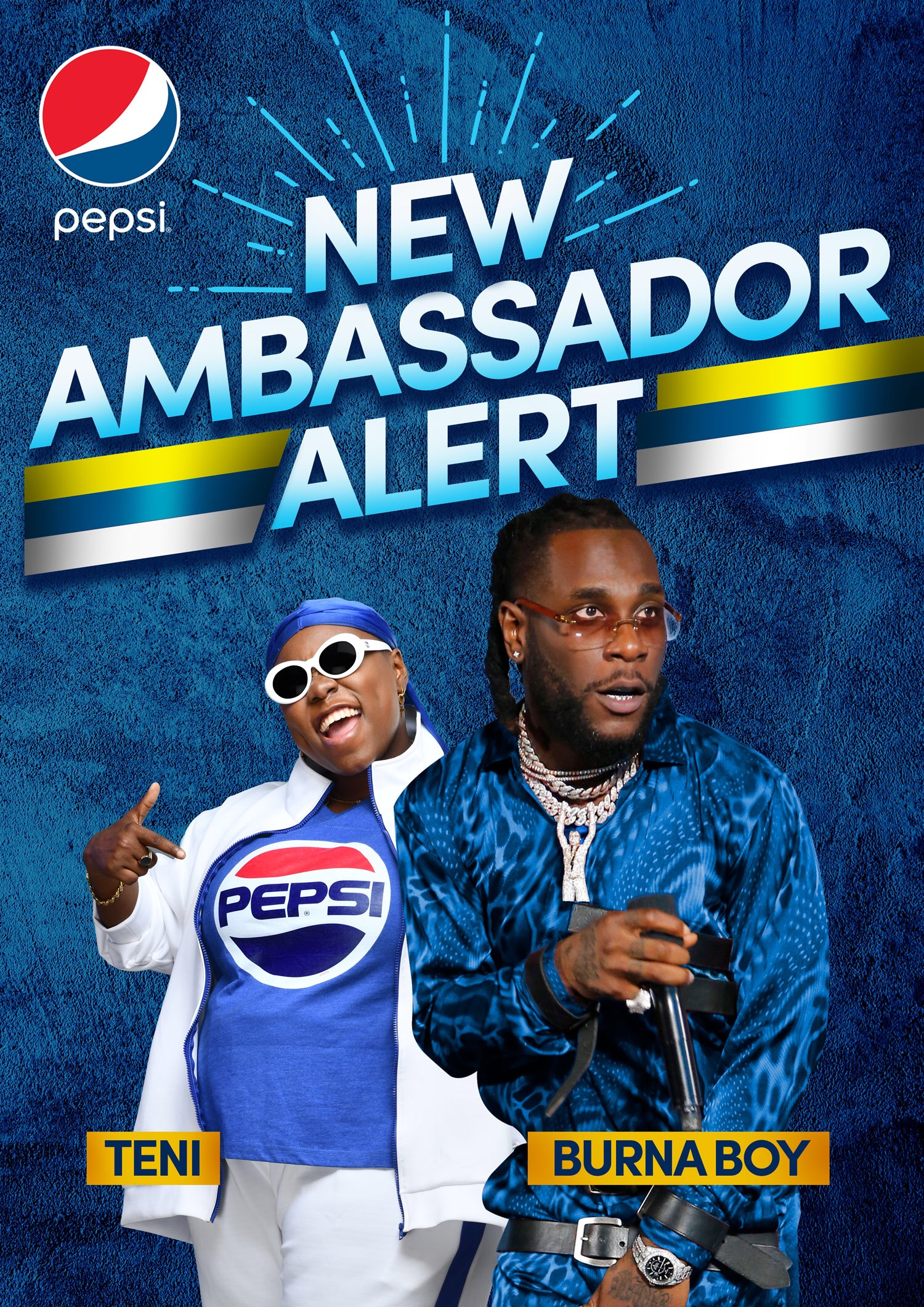 Photo of PEPSI UNVEILS TENI THE ENTERTAINER & BURNA BOY AS BRAND AMBASSADORS