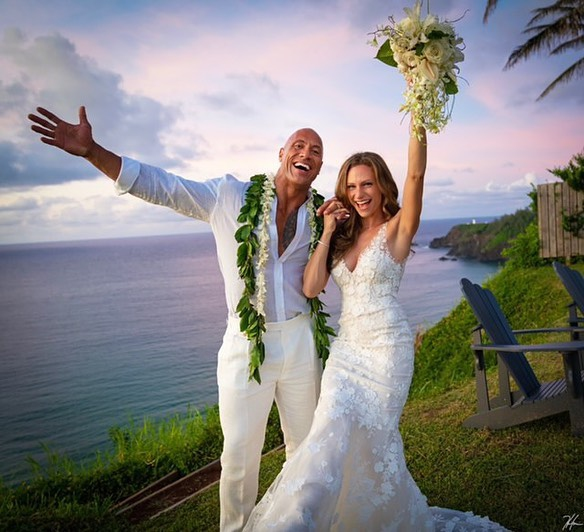 "Photo of DWAYNE ""THE ROCK"" JOHNSON & LONGTIME GIRLFRIEND LAUREN HASHIAN ARE MARRIED"