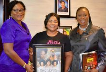 Photo of LAGOS STATE WOMEN AFFAIRS COMMISSIONER ENDORSES DAYO AMUSA'S NEW MOVIE 'OMONIYUN'