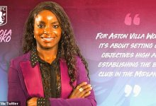 Photo of FORMER ENGLAND STRIKER; ENIOLA ALUKO NAMED ASTON VILLA WOMEN'S FIRST SPORTING DIRECTOR