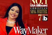 Photo of GOSPEL SINGER SINACH BECOMES THE FIRST AFRICAN TO TOP BILLBOARD 'CHRISTIAN SONGWRITERS' CHART