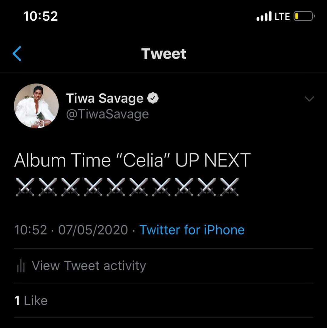 Tiwa Savage-New Album